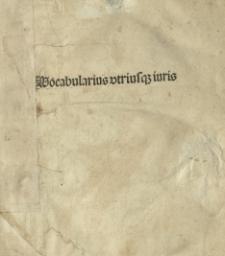 Vocabularius utriusque iuris