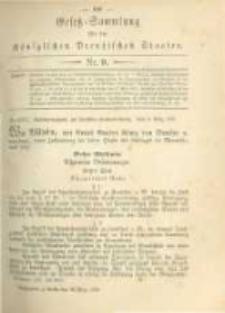 Gesetz-Sammlung für die Königlichen Preussischen Staaten. 1879.03.28 No9