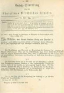 Gesetz-Sammlung für die Königlichen Preussischen Staaten. 1879.04.25 No14