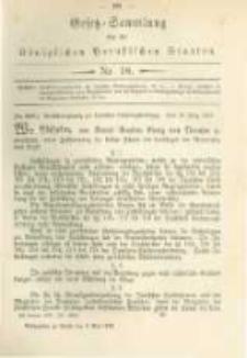 Gesetz-Sammlung für die Königlichen Preussischen Staaten. 1879.05.03 No18