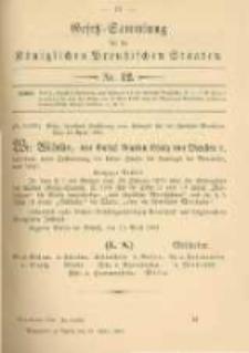 Gesetz-Sammlung für die Königlichen Preussischen Staaten. 1902.04.25 No12