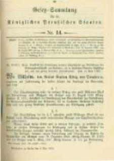 Gesetz-Sammlung für die Königlichen Preussischen Staaten. 1902.05.06 No14