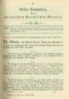 Gesetz-Sammlung für die Königlichen Preussischen Staaten. 1902.05.13 No15