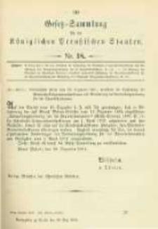 Gesetz-Sammlung für die Königlichen Preussischen Staaten. 1902.05.28 No18