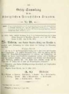 Gesetz-Sammlung für die Königlichen Preussischen Staaten. 1902.06.05 No20