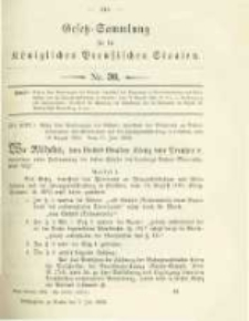 Gesetz-Sammlung für die Königlichen Preussischen Staaten. 1902.07.07 No30