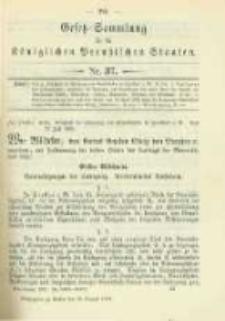 Gesetz-Sammlung für die Königlichen Preussischen Staaten. 1902.08.26 No37