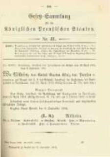 Gesetz-Sammlung für die Königlichen Preussischen Staaten. 1902.09.17 No41