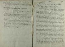 Instrukcja Jana Firleya podskarbiego na wesele arcyksięcia Ferdynanda, Warszawa 20.03.1600