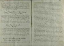 Instrukcja Pawła Wołuckiego biskupa kamienieckiego, posła do papieża Klemensa VIII, 1600
