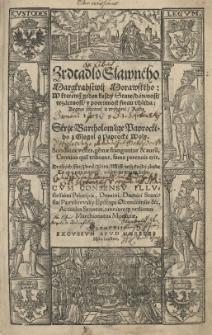 Zrdcadlo slavného Margrabstwii Morawského: w kteremż [...] każdě staw [...] powinnost swau uhléda [...] wydané roku 1593 skrze BartholomŘge Paprockého...