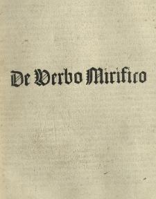Capnia, sive De verbo mirifico