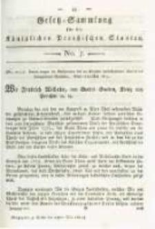 Gesetz-Sammlung für die Königlichen Preussischen Staaten. 1815.05.27 No7