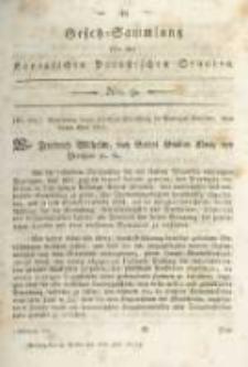 Gesetz-Sammlung für die Königlichen Preussischen Staaten. 1815.07.08 No9