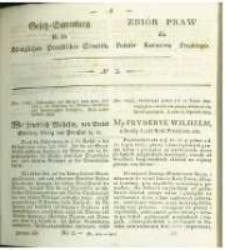 Gesetz-Sammlung für die Königlichen Preussischen Staaten. 1829 No2