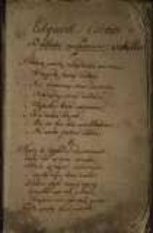 Zbiór wierszy różnych autorów z 1 połowy XIX w.