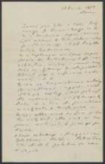 List Józefa Ignacego Kraszewskiego do Piotra Falkenhagen-Zaleskiego z 15 kwietnia 1878 roku