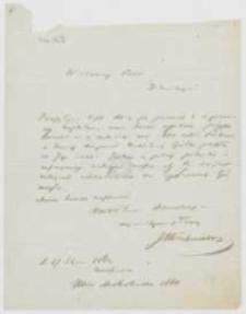 List Józefa Ignacego Kraszewskiego do [Jana Hussarowskiego] z 27 stycznia 1862 roku