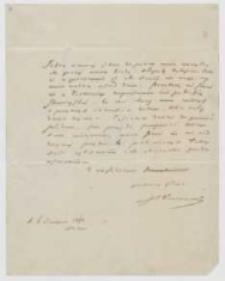 List Józefa Ignacego Kraszewskiego do NN z 6 sierpnia 1864 roku