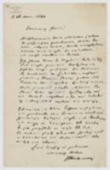 List Józefa Ignacego Kraszewskiego do NN z 26 marca 1880 roku