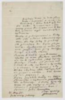 List Józefa Ignacego Kraszewskiego do NN z 21 maja 1885 roku
