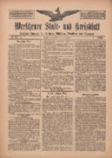 Wreschener Stadt und Kreisblatt: amtlicher Anzeiger für Wreschen, Miloslaw, Strzalkowo und Umgegend 1912.09.28 Nr117