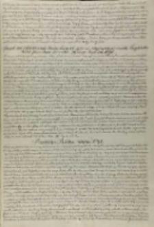 Sposób na odwrócenie woiny tureckij podczas wyprawy przeciwko Beghlerberkowi przez pana Dzierzka podany Anno Domini 1590