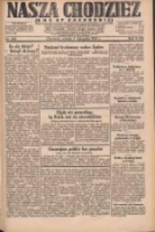 Nasza Chodzież: dziennik poświęcony obronie interesów narodowych na zachodnich ziemiach Polski 1931.11.03 R.9(2) Nr254