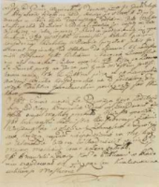 List od Granic Węgierskich 1771/1772