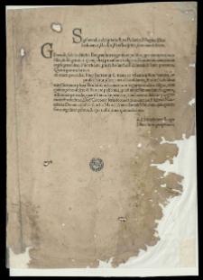 [Litterae convocationis ad conventum generalem in Piotrkow pro festo S.S. Simonis et Judae datae 13 Sept. a. 1521]