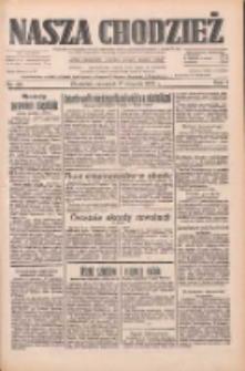 Nasza Chodzież: dziennik poświęcony obronie interesów narodowych na zachodnich ziemiach Polski 1933.08.17 R.4 Nr187