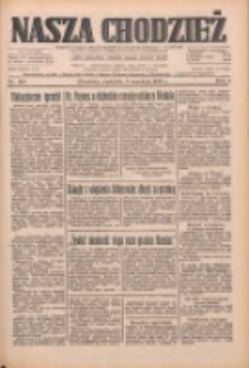 Nasza Chodzież: dziennik poświęcony obronie interesów narodowych na zachodnich ziemiach Polski 1933.09.03 R.4 Nr202
