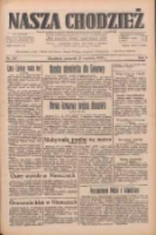 Nasza Chodzież: dziennik poświęcony obronie interesów narodowych na zachodnich ziemiach Polski 1933.09.21 R.4 Nr217