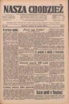 Nasza Chodzież: dziennik poświęcony obronie interesów narodowych na zachodnich ziemiach Polski 1933.09.24 R.4 Nr220