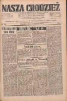 Nasza Chodzież: dziennik poświęcony obronie interesów narodowych na zachodnich ziemiach Polski 1933.09.27 R.4 Nr222