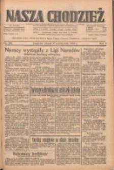 Nasza Chodzież: dziennik poświęcony obronie interesów narodowych na zachodnich ziemiach Polski 1933.10.17 R.4 Nr239