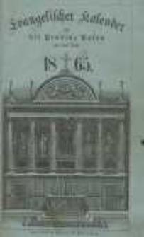 Evangelischer Kalender für die Provinz Posen auf das Jahr 1865 Jg.5