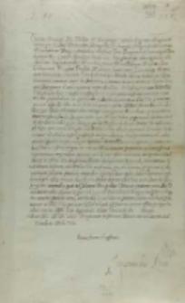 List króla Zygmunta III do Filipa IV króla Hiszpanii, Warszawa 1613