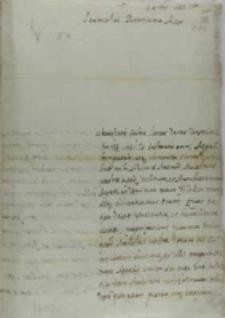 List do króla Zygmunta III, z Madrytu 12.10.1623