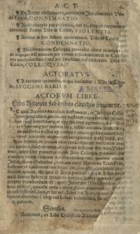 Statuta Regni Poloniae in ordinem alphabeti digesta. A Joanne Herborto [...]