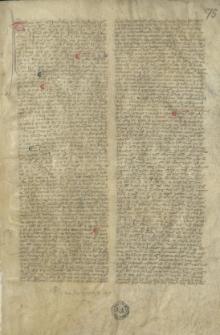 Traktat teologiczny. Na końcu data: 1369 Idus Martii XIV