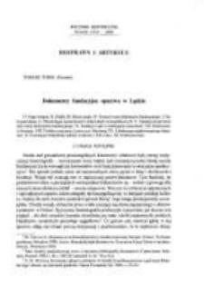 Dokumenty fundacyjne opactwa w Lądzie