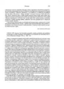 Strzelczyk, Jerzy, recenzja: Verena Epp, Amicitia. Zur Geschichte personaler, sozialer, politischer und geistlicher Beziehungen im fruhen Mittelalter, Stuttgart 1999