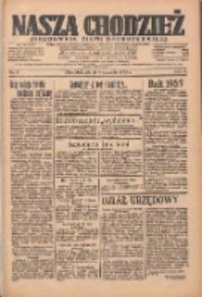 Nasza Chodzież: organ poświęcony obronie interesów narodowych na zachodnich ziemiach Polski 1935.01.04 R.6 Nr3