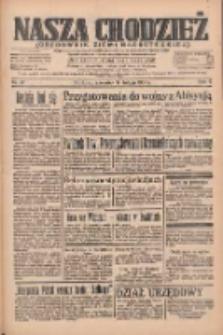 Nasza Chodzież: organ poświęcony obronie interesów narodowych na zachodnich ziemiach Polski 1935.02.14 R.6 Nr37