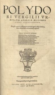 [...] Anglicae Historiae libri viginti septem [...]