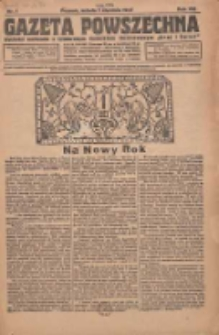Gazeta Powszechna 1927.01.01 R.8 Nr1