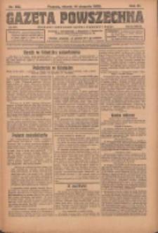 Gazeta Powszechna: organ Zjednoczenia Producentów Rolnych 1923.08.14 R.4 Nr183