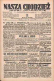 Nasza Chodzież: organ poświęcony obronie interesów narodowych na zachodnich ziemiach Polski 1935.09.10 R.6 Nr208
