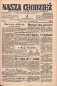 Nasza Chodzież: organ poświęcony obronie interesów narodowych na zachodnich ziemiach Polski 1935.09.14 R.6 Nr212